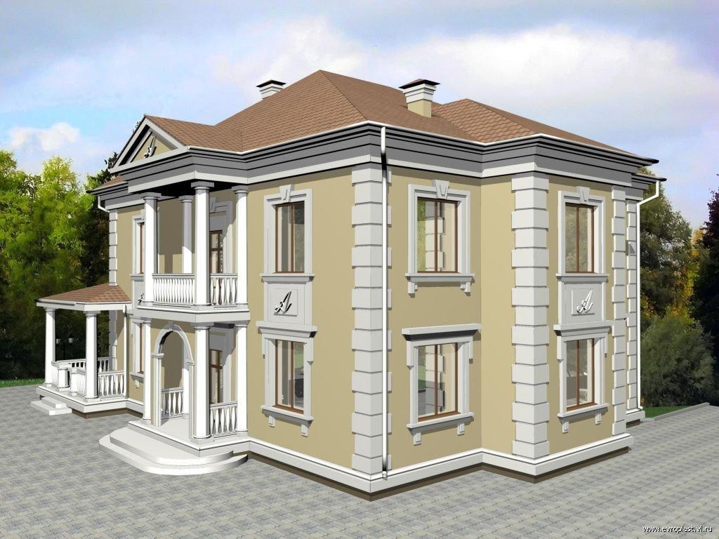 Как сделать фасад дома из пенопласта 285